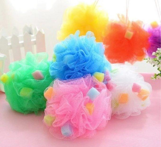 mesh bath spone, bath sponge
